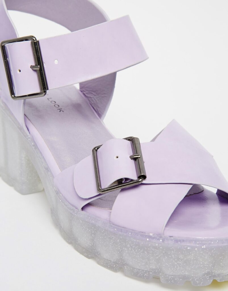 New Look Pollock Jelly Heeled Sandals