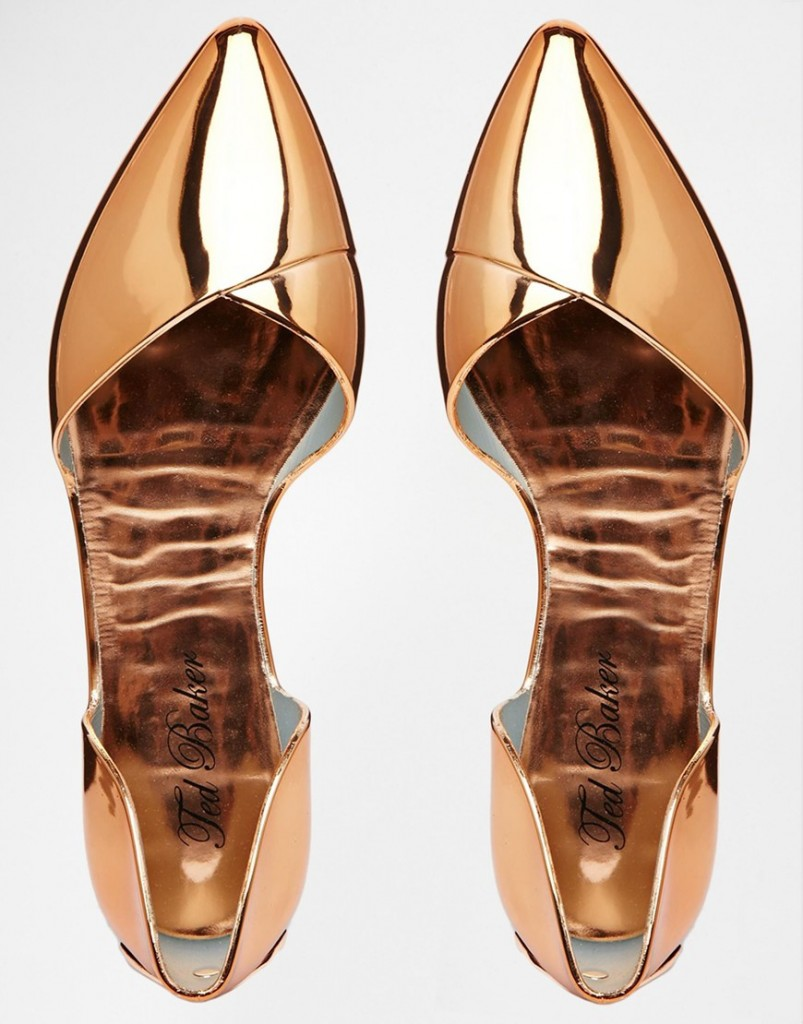 Ted Baker Dawfodyl Metallic Jelly Two Part Point Flat Shoes