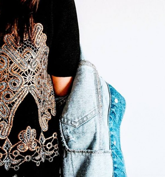 OOTD: Black Dress + Denim Jacket