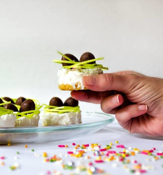 No Bake Mini Easter Cheesecakes