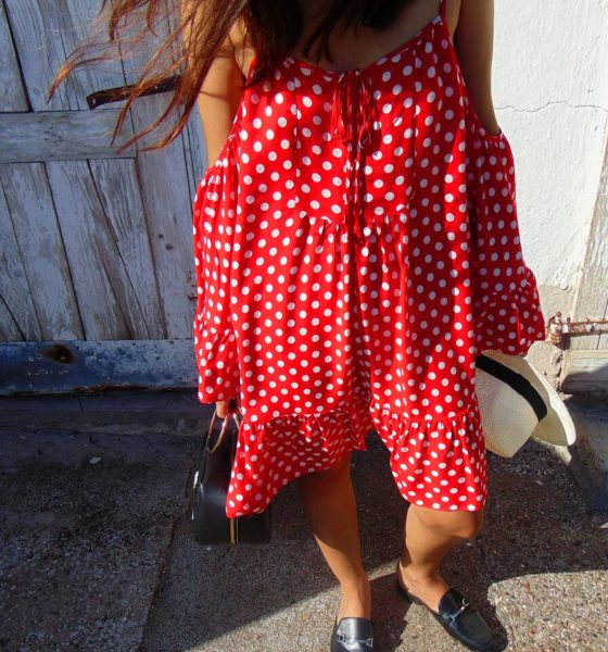 OOTD: Polka Dot Dress + Embroidered Bag