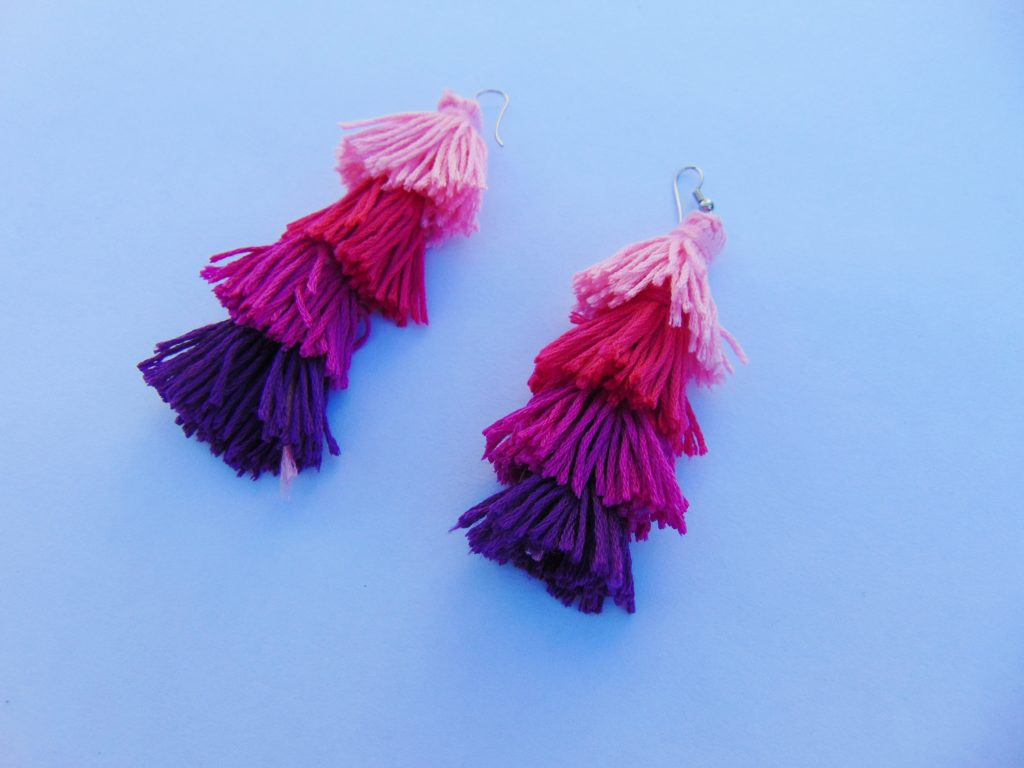 tassel earrings diy
