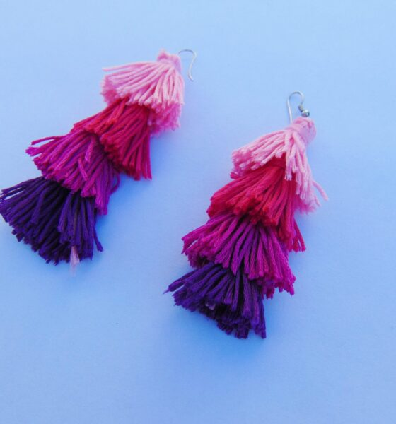 DIY Ombre Tassel Earrings In Less Than 5 Minutes